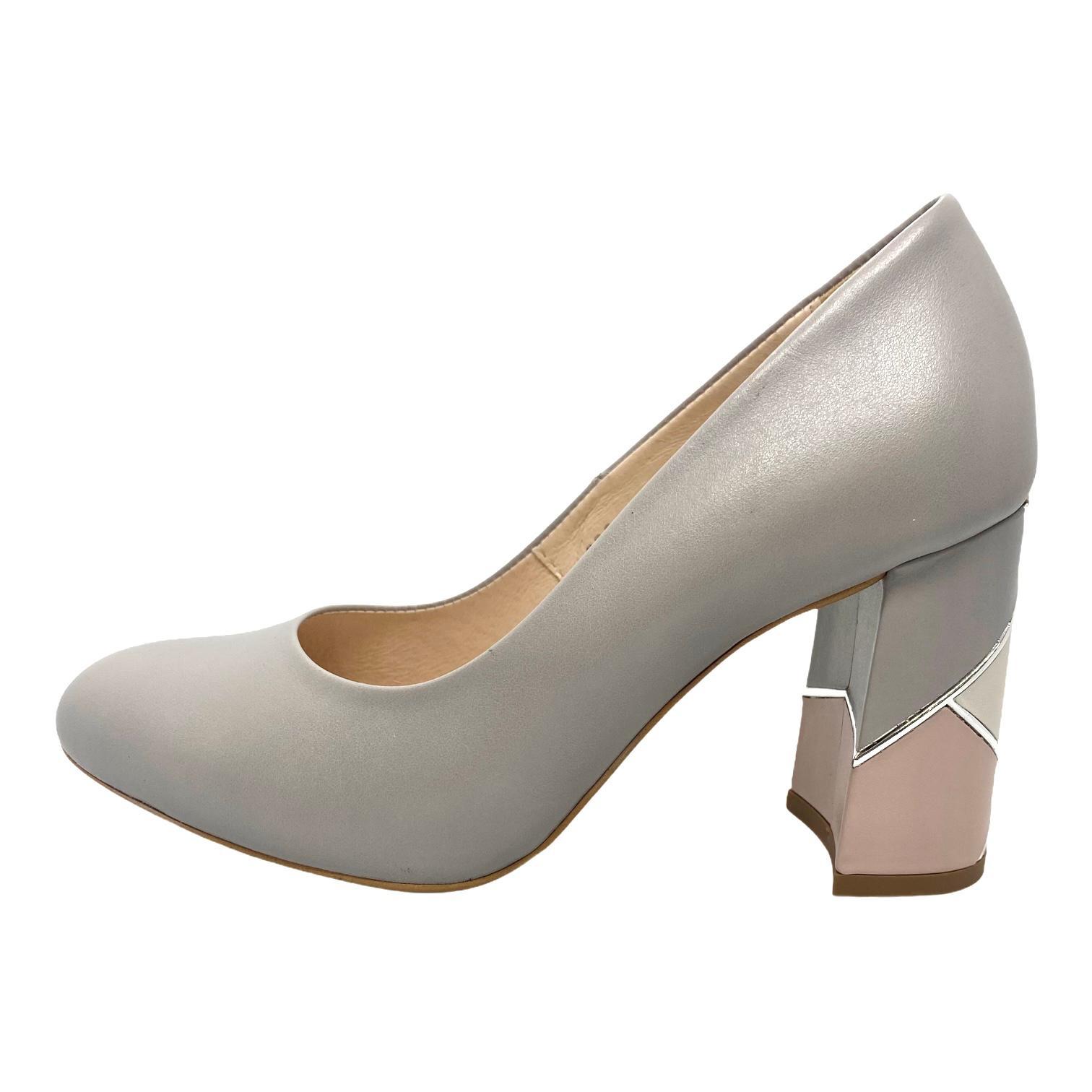 Pantofi Kordel gri cu toc cu model