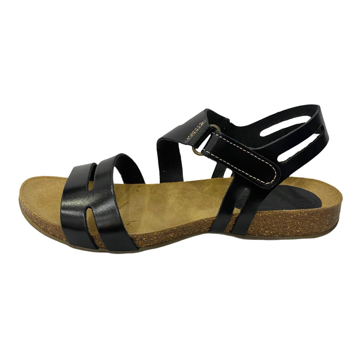 Sandale negre cu barete