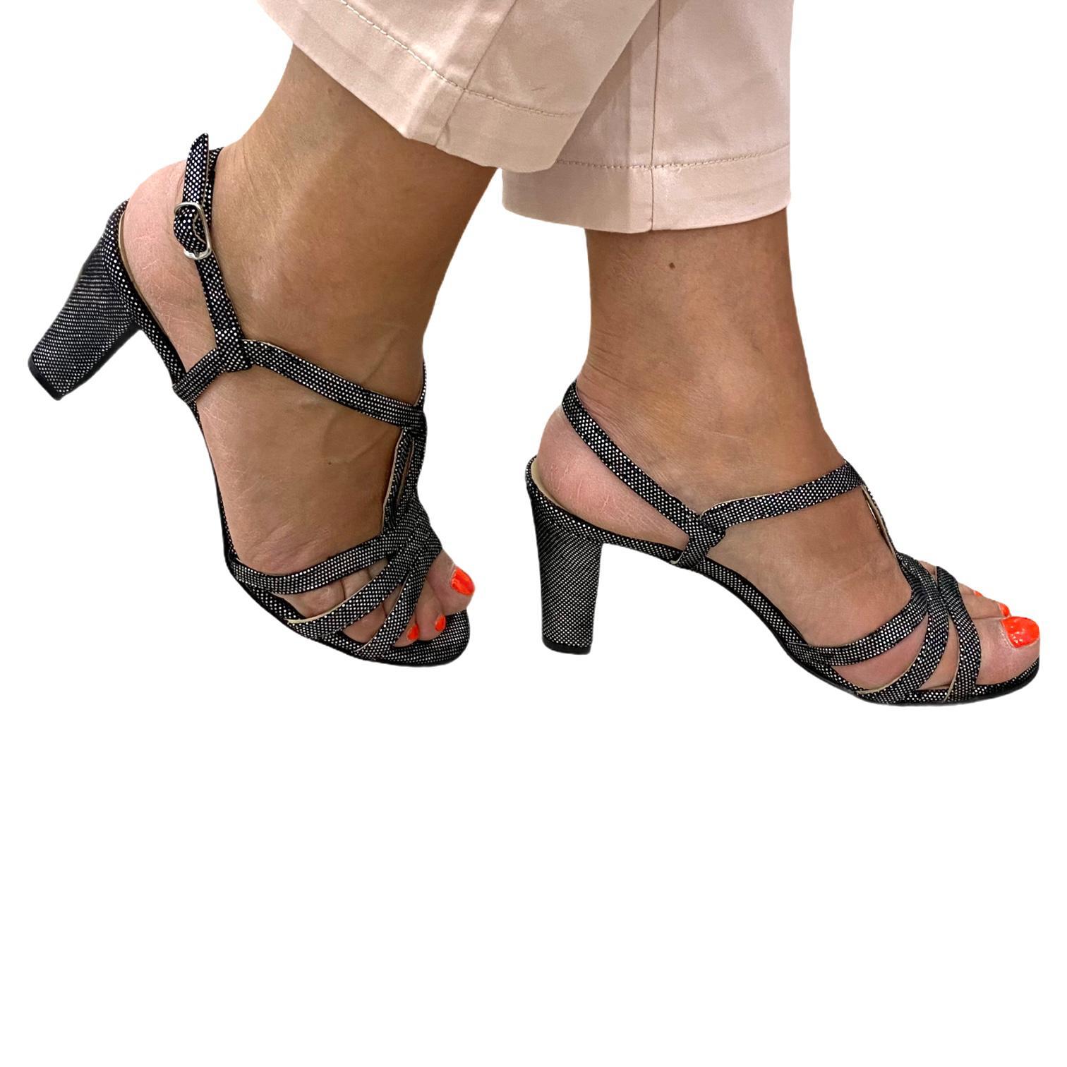 Sandale argintii sclipitoare