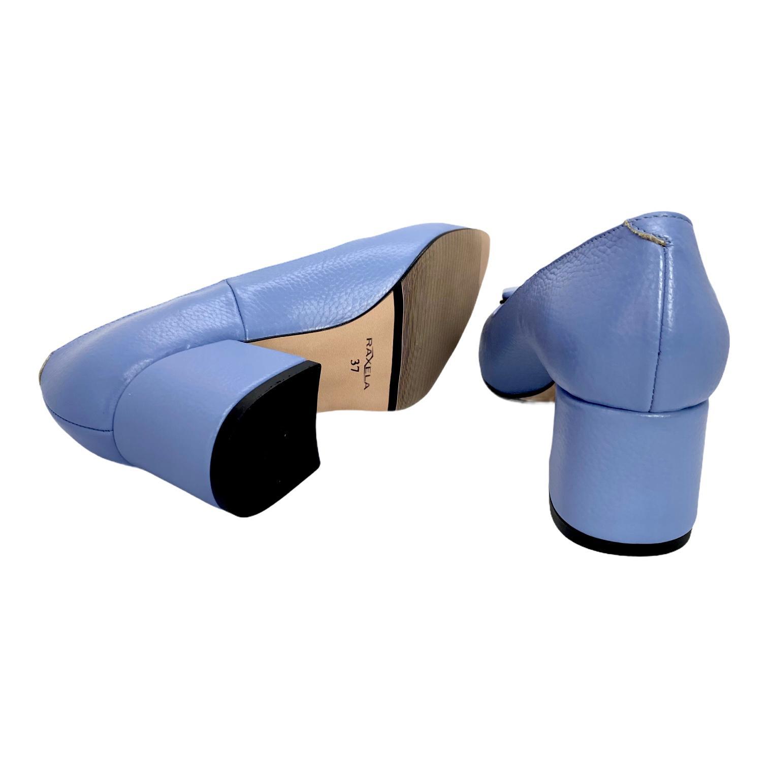 Pantofi lavanda cu accesoriu metalic