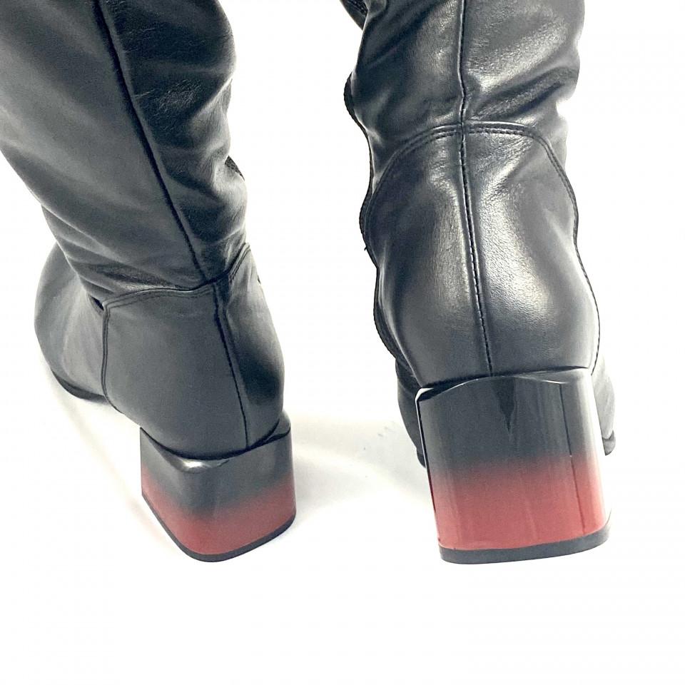 Cizme lungi nappa negru