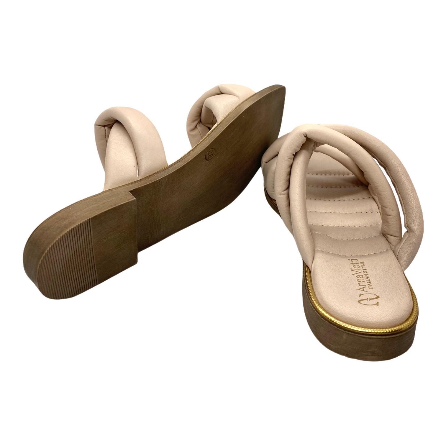Sandale bej cu barete impletite