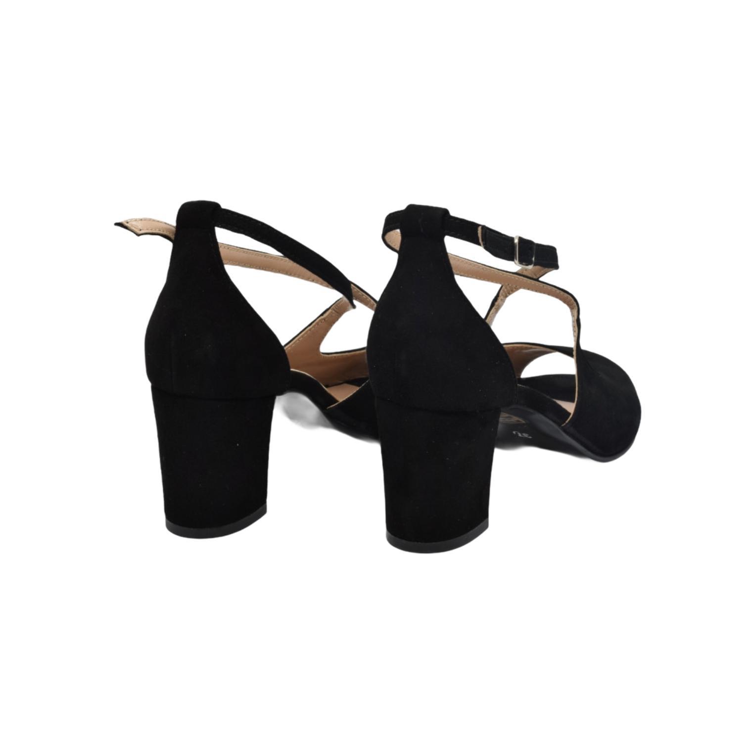 Sandale negru cu barete incucisate