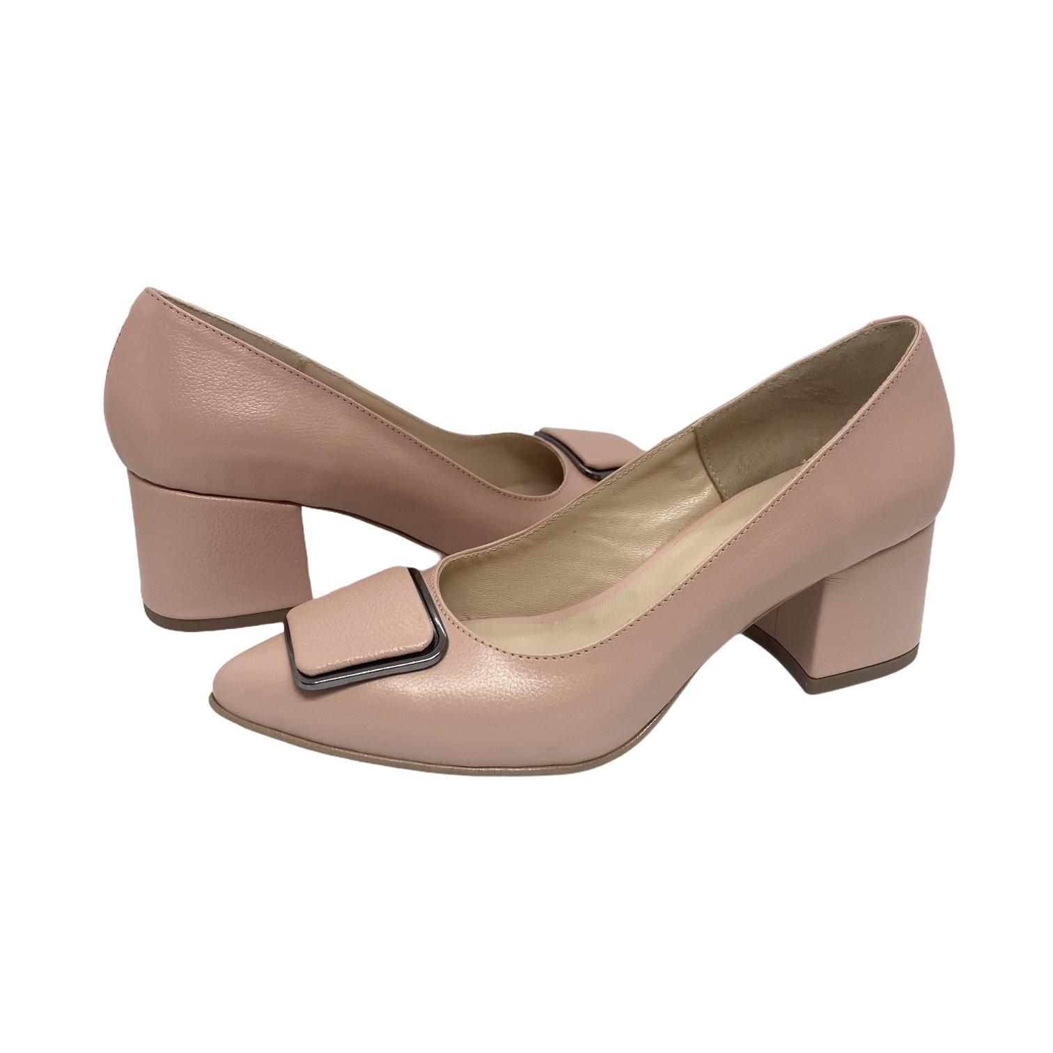 Pantofi nude cu accesoriu