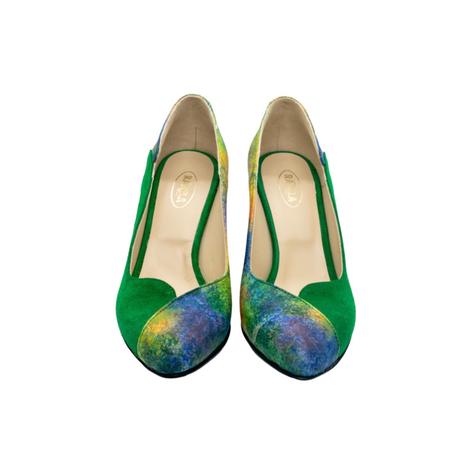 Pantofi verzi curcubeu
