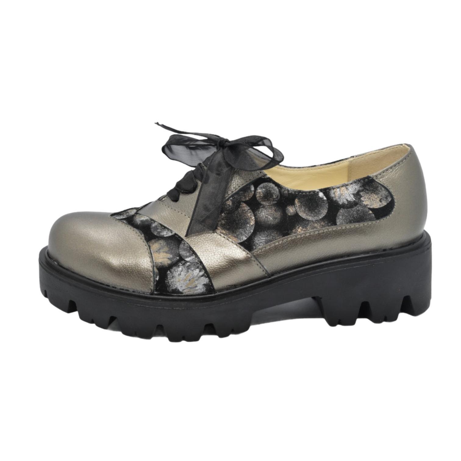 Pantofi platin cu model si platforma