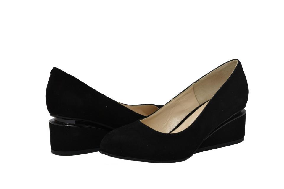 Pantofi negri cu toc ortopedic