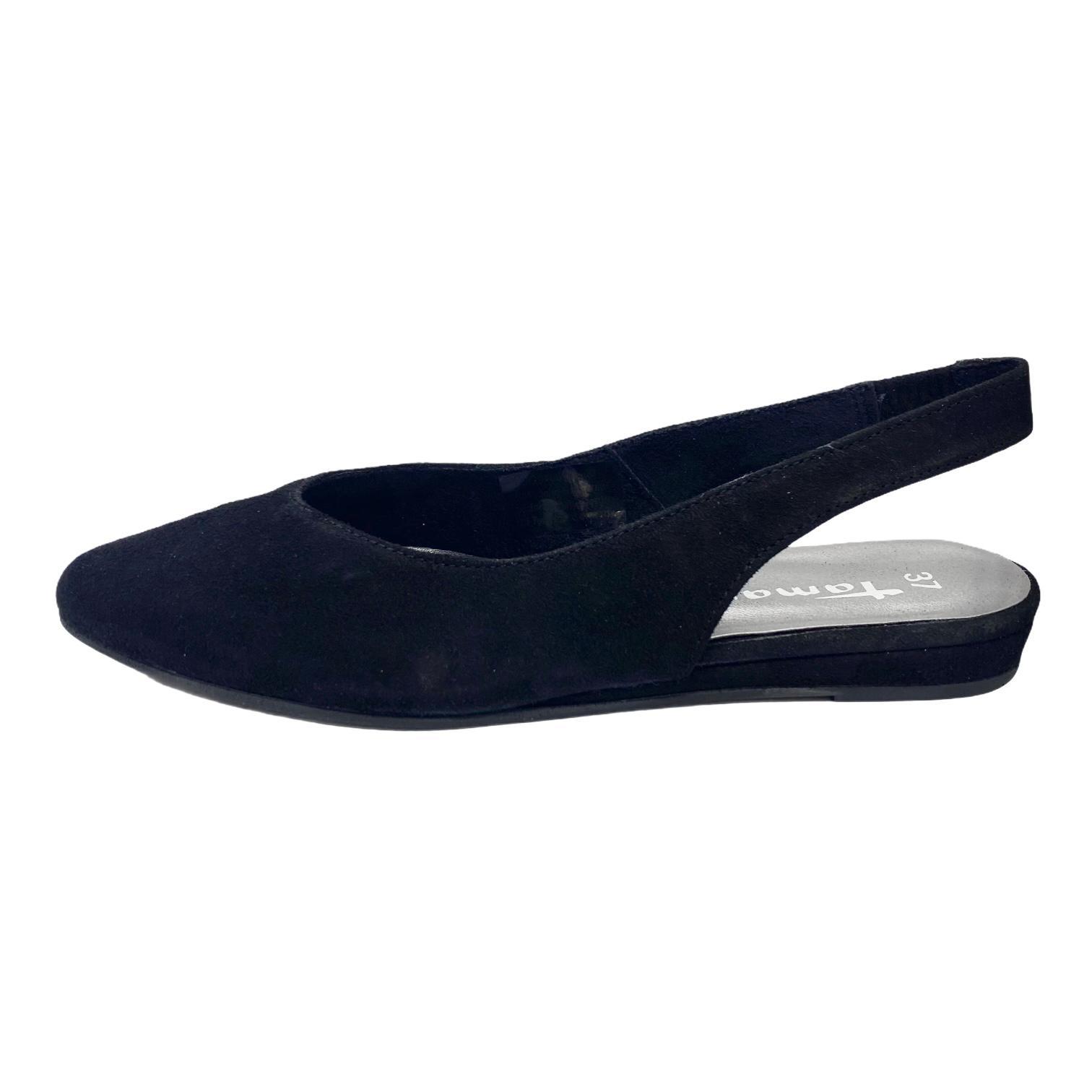 Pantofi Tamaris negri decupati in spate