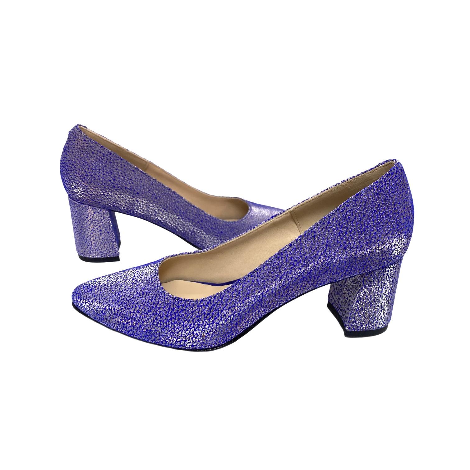 Pantofi flores albastru