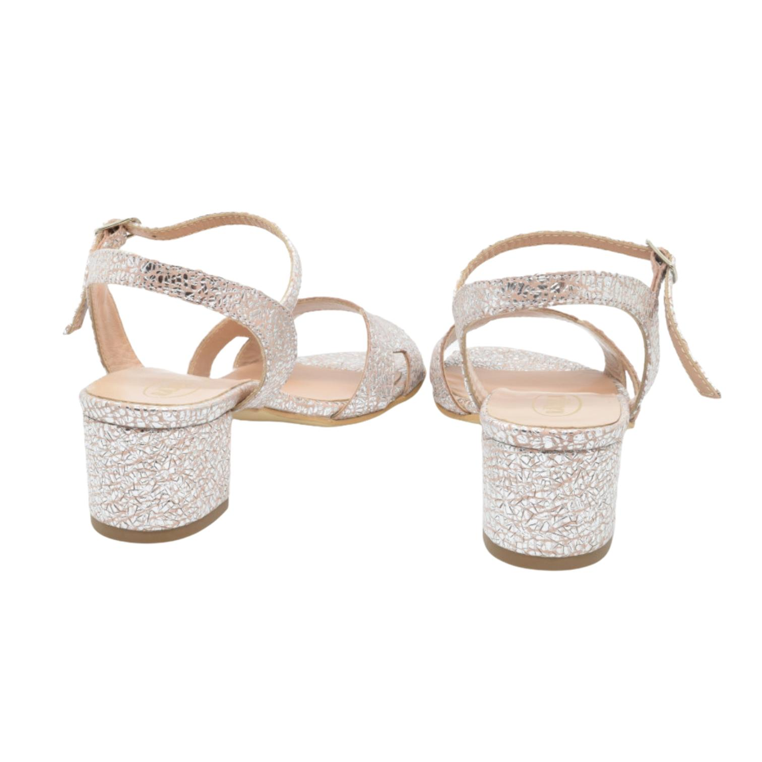 Sandale Pety roz argintiu
