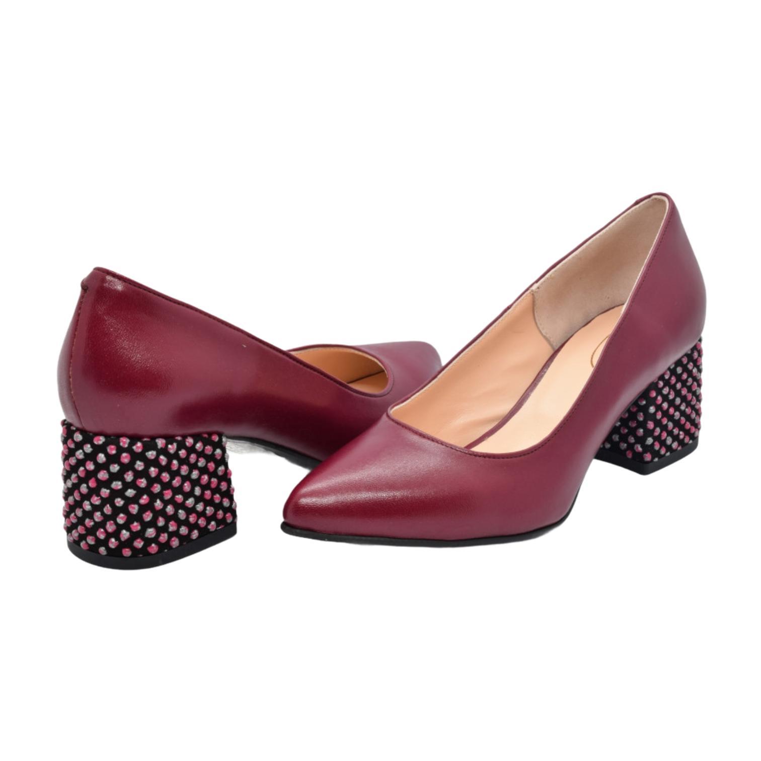 Pantofi visinii cu toc cu aplicatii sferice