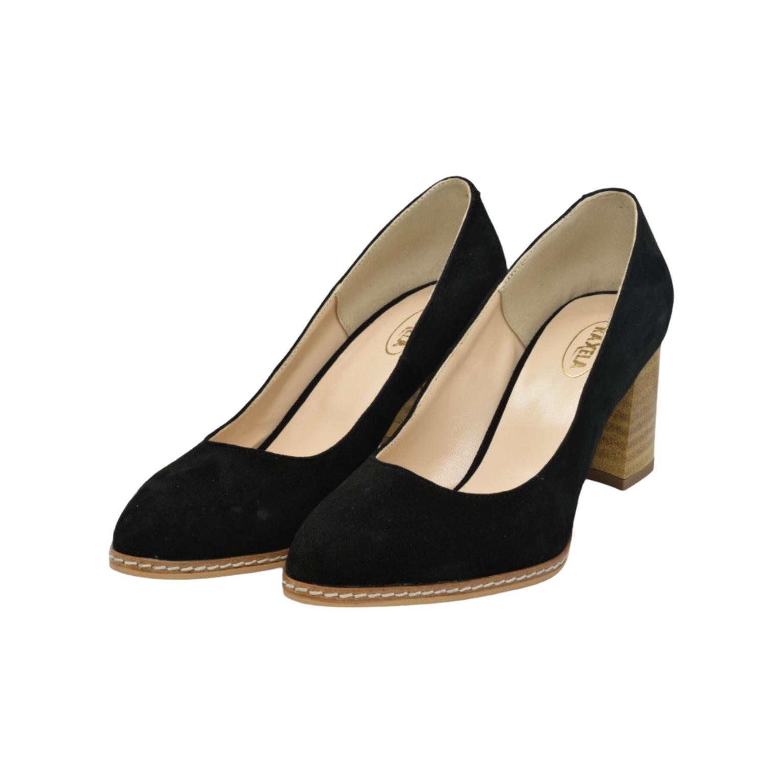 Pantofi negri cu toc vintage