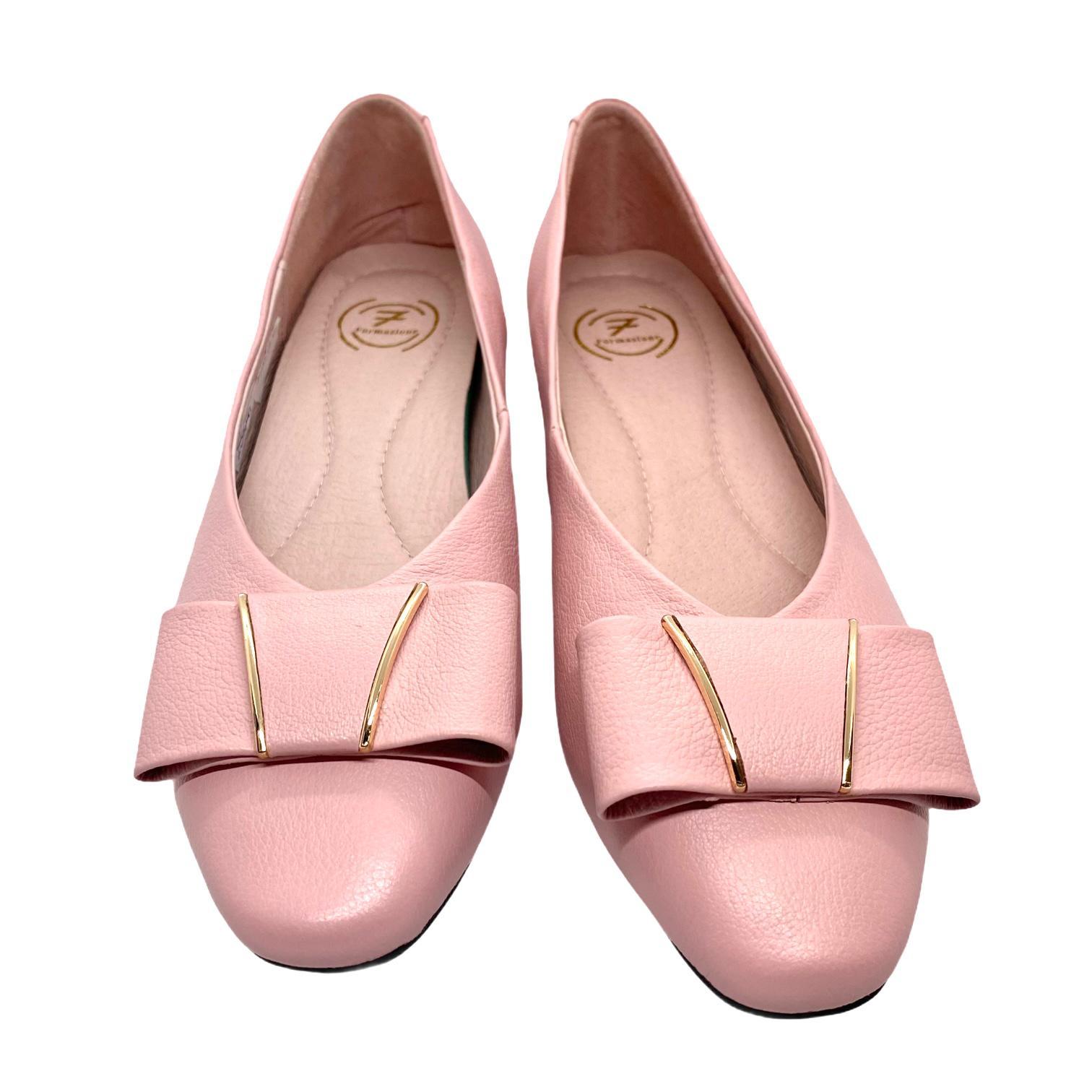 Balerini roz cu accesoriu tip funda