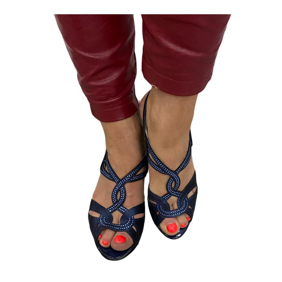 Sandale Pitillos bleumarin cu barete incrucisate