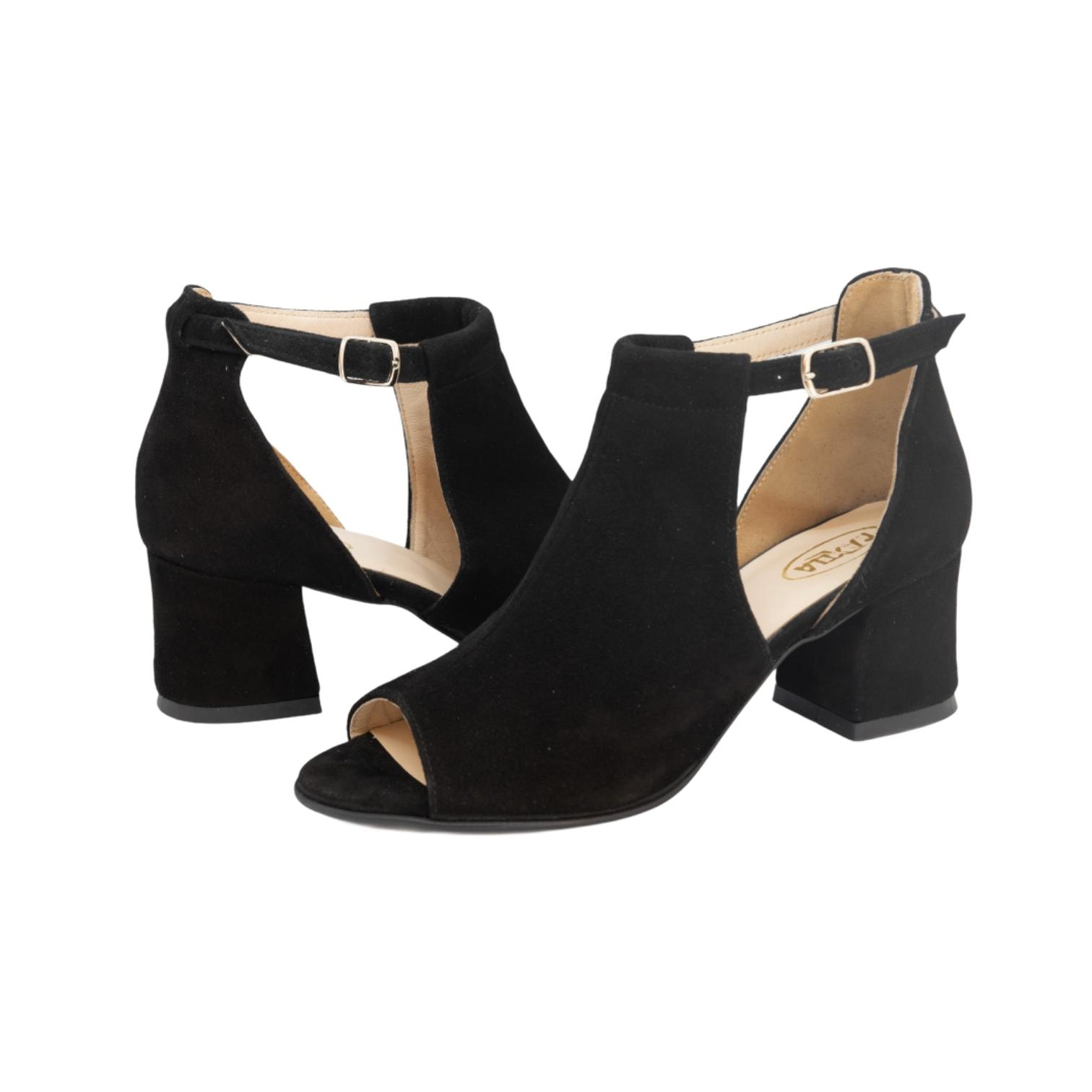Sandale negre tip ghetuta