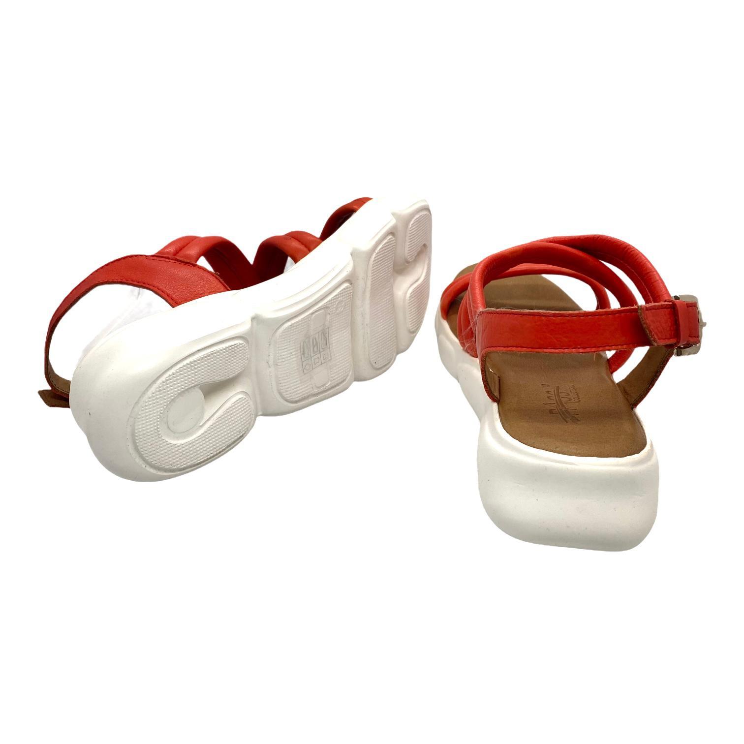 Sandale sport rosii cu barete