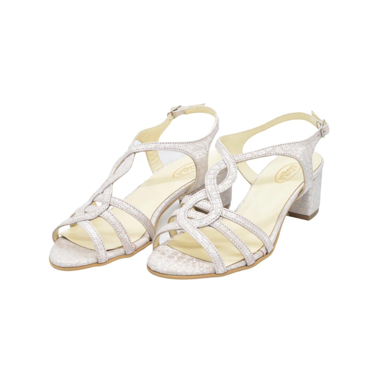 Sandale somon cu imprimeu