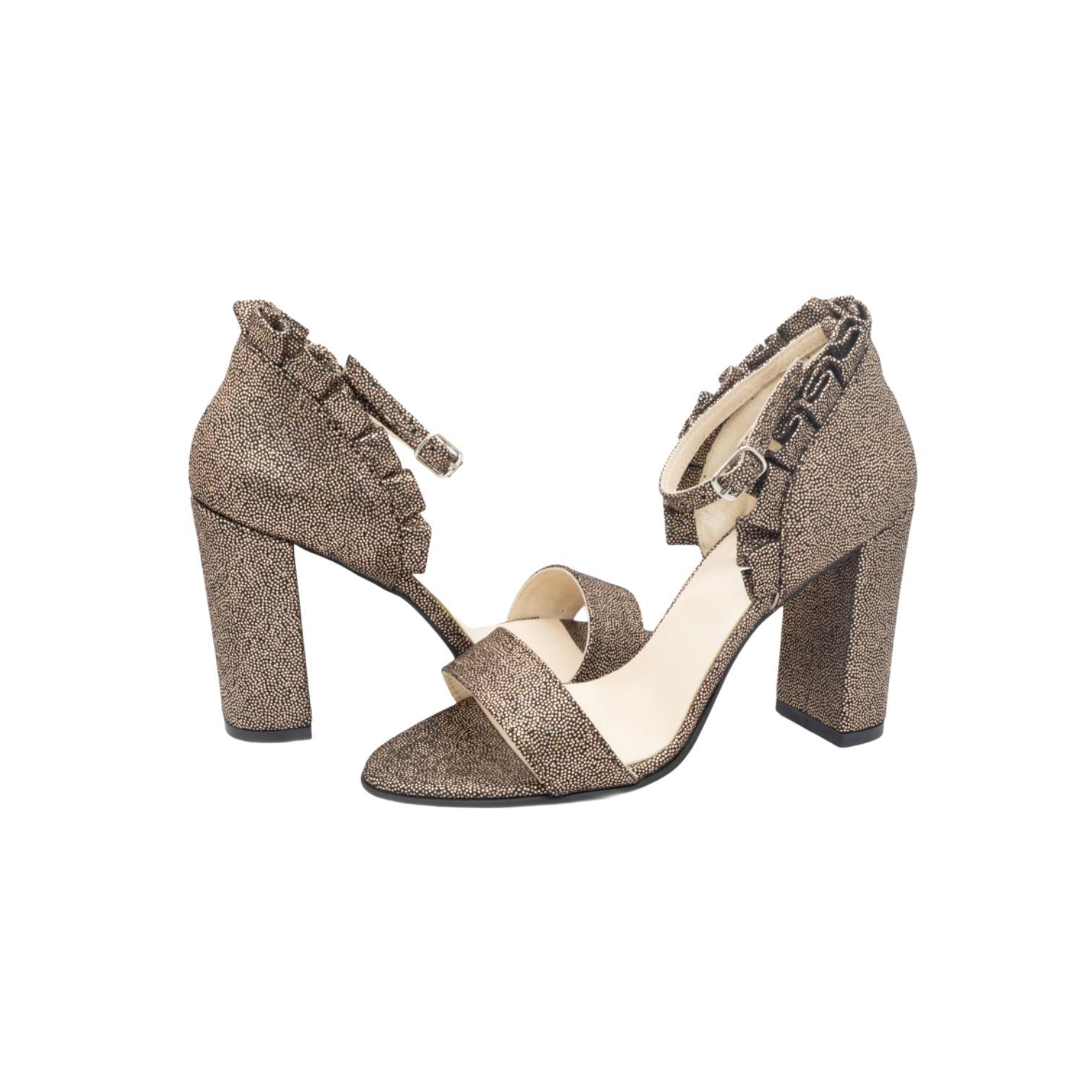 Sandale aurii cu volanase