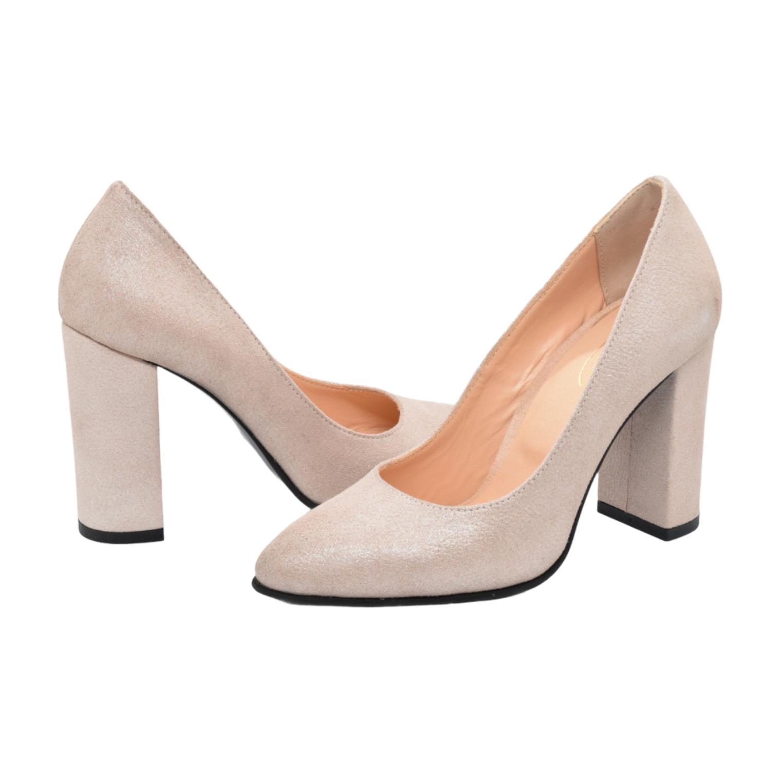 Pantofi nude sclipitori