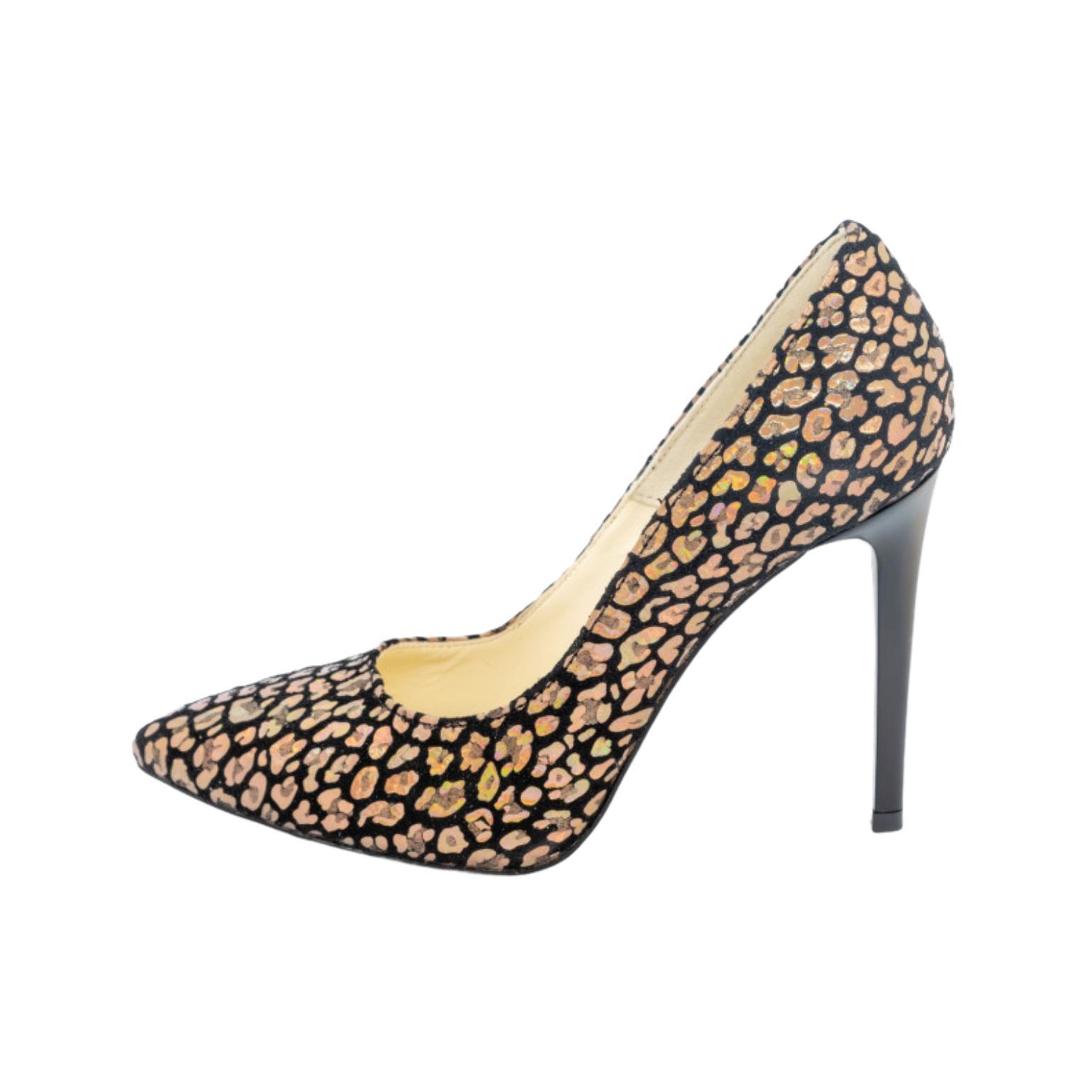 Pantofi velvet auriu