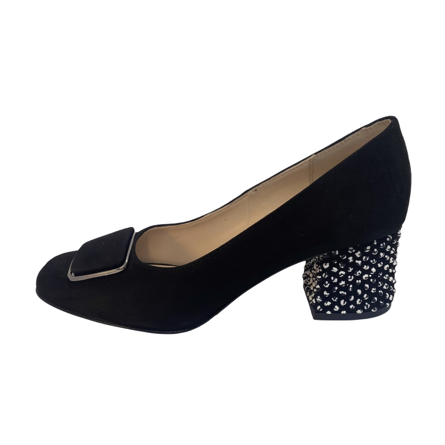 Pantofi negri cu accesoriu