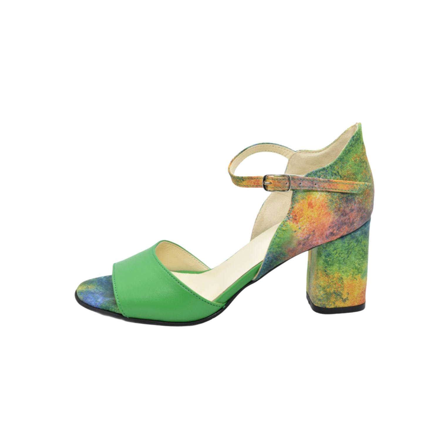 Sandale verzi curcubeu